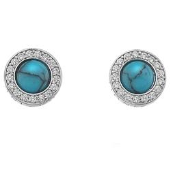 Obrázek è. 2 k produktu: Støíbrné náušnice Hot Diamonds Emozioni Giove Turquoise