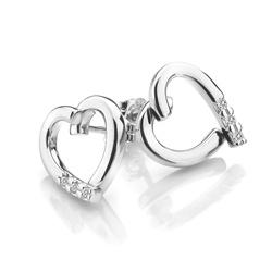 Obrázek è. 2 k produktu: Støíbrné náušnice Hot Diamonds Glide Heart