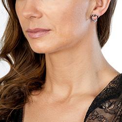 Obrázek è. 4 k produktu: Støíbrné náušnice Hot Diamonds Glide Heart