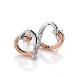 Obrázek è. 2 k produktu: Støíbrné náušnice Hot Diamonds Glide Heart Rose Gold