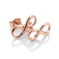 Obrázek è. 2 k produktu: Støíbrné náušnice Hot Diamonds Infinity Rose Gold