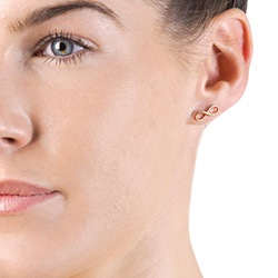 Obrázek è. 4 k produktu: Støíbrné náušnice Hot Diamonds Infinity Rose Gold