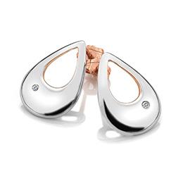 Obrázek è. 2 k produktu: Støíbrné náušnice Hot Diamonds Journey Large Rose Gold
