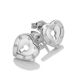 Obrázek è. 2 k produktu: Støíbrné náušnice Hot Diamonds Love DE527