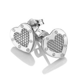 Obrázek è. 2 k produktu: Støíbrné náušnice Hot Diamonds Love DE528