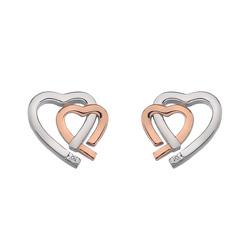 Stříbrné náušnice Hot Diamonds Love DE532