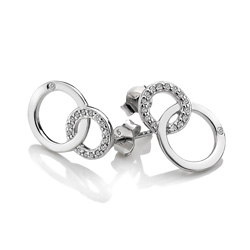 Obrázek è. 4 k produktu: Støíbrné náušnice Hot Diamonds Love DE533