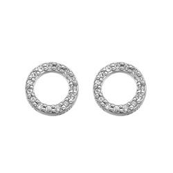 Stříbrné náušnice Hot Diamonds Love DE534
