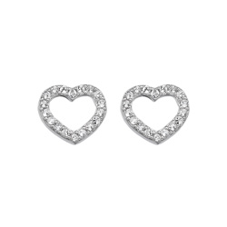 Stříbrné náušnice Hot Diamonds Love DE535