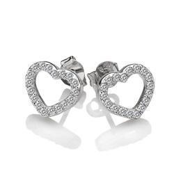 Obrázek è. 2 k produktu: Støíbrné náušnice Hot Diamonds Love DE535