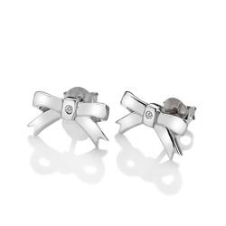 Obrázek è. 2 k produktu: Støíbrné náušnice Hot Diamonds Ribbon DE536