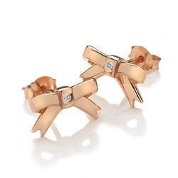 Obrázek è. 2 k produktu: Støíbrné náušnice Hot Diamonds Ribbon DE537
