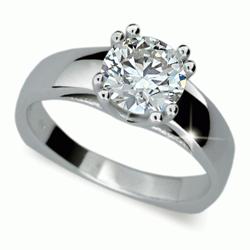 Prsten s briliantem Danfil DF1888