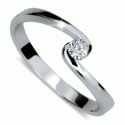 Prsten s briliantem Danfil DF1934