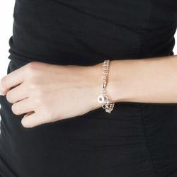 Obrázek è. 8 k produktu: Støíbrný náramek Hot Diamonds Emozioni Plate Bead