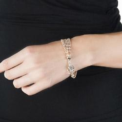 Obrázek č. 9 k produktu: Stříbrný náramek Hot Diamonds Emozioni Plate Bead Luxury