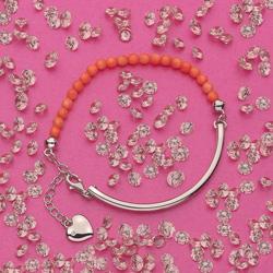 Obrázek è. 6 k produktu: Støíbrný náramek Hot Diamonds Festival Coral