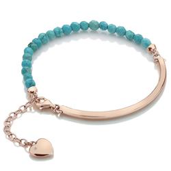 Obrázek č. 1 k produktu: Stříbrný náramek Hot Diamonds Festival Turquoise Rose Gold