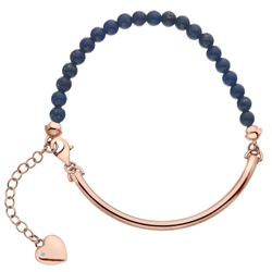 Stříbrný náramek Hot Diamonds Festival Blue Lapis Rose Gold