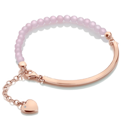 Stříbrný náramek Hot Diamonds Festival Rose Quartz Rose Gold