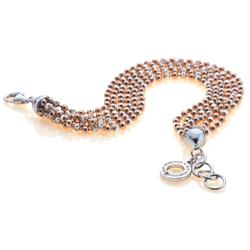Obrázek è. 4 k produktu: Støíbrný náramek Hot Diamonds Deluxe Garland Bead Rose Gold