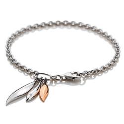 Obrázek è. 2 k produktu: Støíbrný náramek Hot Diamonds Leaf