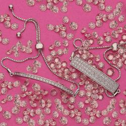 Obrázek è. 6 k produktu: Støíbrný náramek Hot Diamonds Crystal Triple Row Clear