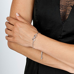 Obrázek è. 2 k produktu: Støíbrný náramek Hot Diamonds Infinity Draw