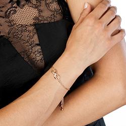 Obrázek è. 4 k produktu: Støíbrný náramek Hot Diamonds Infinity Draw Rose Gold