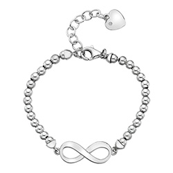 Støíbrný náramek Hot Diamonds Infinity Bead