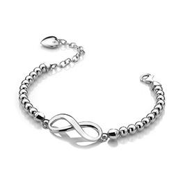 Obrázek è. 2 k produktu: Støíbrný náramek Hot Diamonds Infinity Bead