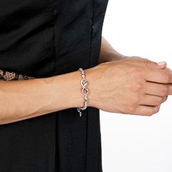 Obrázek è. 4 k produktu: Støíbrný náramek Hot Diamonds Infinity Bead