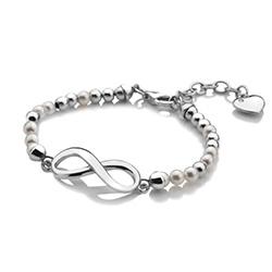 Obrázek è. 4 k produktu: Støíbrný náramek Hot Diamonds Infinity Bead Pearl