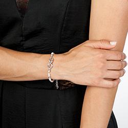 Obrázek è. 2 k produktu: Støíbrný náramek Hot Diamonds Infinity Bead Pearl
