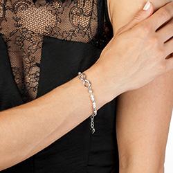 Obrázek è. 6 k produktu: Støíbrný náramek Hot Diamonds Infinity Bead Pearl