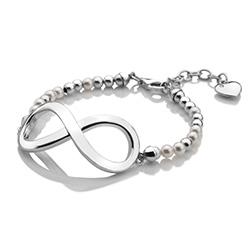 Obrázek è. 4 k produktu: Støíbrný náramek Hot Diamonds Infinity Bead Pearl Large