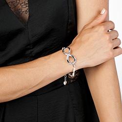 Obrázek è. 6 k produktu: Støíbrný náramek Hot Diamonds Infinity Bead Pearl Large