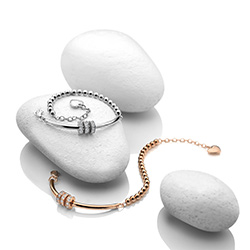 Obrázek è. 6 k produktu: Støíbrný náramek Hot Diamonds Parade Rose Gold