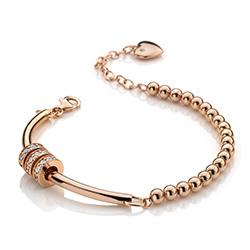 Obrázek è. 2 k produktu: Støíbrný náramek Hot Diamonds Parade Rose Gold
