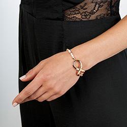 Obrázek è. 4 k produktu: Støíbrný náramek Hot Diamonds Infinity Bead Pearl Large Rose Gold