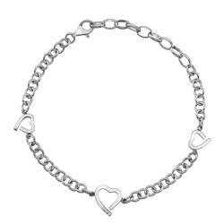 Stříbrný náramek Hot Diamonds Love DL564