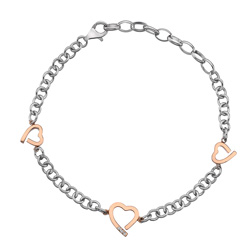 Støíbrný náramek Hot Diamonds Love DL565