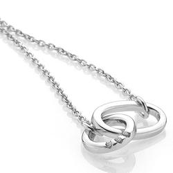 Obrázek è. 2 k produktu: Støíbrný náhrdelník Hot Diamonds Trio Of Diamonds