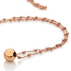 Obrázek è. 2 k produktu: Støíbrný náhrdelník Hot Diamonds Globe Rose Gold