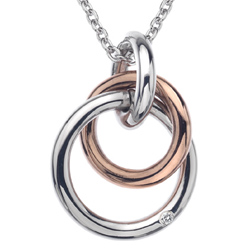 Stříbrný přívěsek Hot Diamonds Eternity Rose Gold DP373