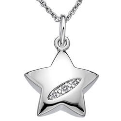 Støíbrný pøívìsek Hot Diamonds Shooting Stars Star
