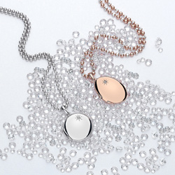 Obrázek è. 10 k produktu: Støíbrný pøívìsek Hot Diamonds Memoirs Oval Locket Rose