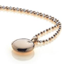 Obrázek è. 2 k produktu: Støíbrný pøívìsek Hot Diamonds Memoirs Circle Locket Rose