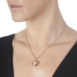 Obrázek è. 4 k produktu: Støíbrný pøívìsek Hot Diamonds Memoirs Circle Locket Rose