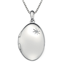 Støíbrný pøívìsek Hot Diamonds Memoirs Oval Locket